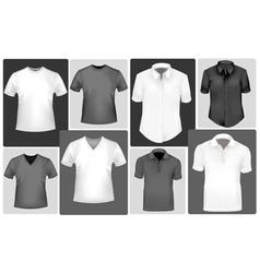 Polo shirts and t-shirts vector