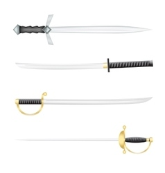 The swords vector image vector image