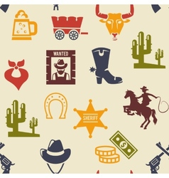 Western and rodeo seamless background pattern vector image vector image