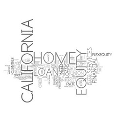 z home equity loan california text background vector image vector image