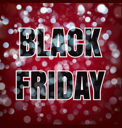 black friday poster on dark blue background with vector image