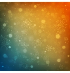 Christmas background snowflakes with lights vector image