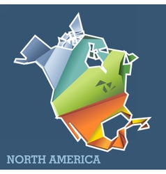 Digital north america map with abstract vector image