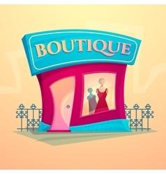 Facade fashion shop vector image