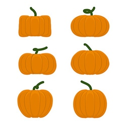 Set different pumpkins Vegetables for Halloween vector image