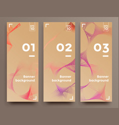 set of soft vertical banners vector image vector image