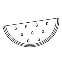 watermelon juicy fruit thin line vector image