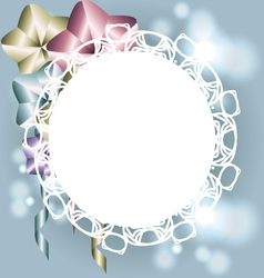 White frame with ornaments for invitation template vector