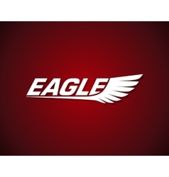 graphic eagle symbol with wings vector image vector image