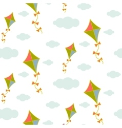 Kite in sky seamless pattern vector image vector image