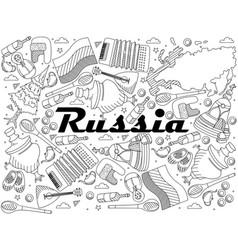 russia line art design vector image vector image