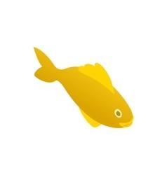 Yellow marine fish icon isometric 3d style vector image vector image