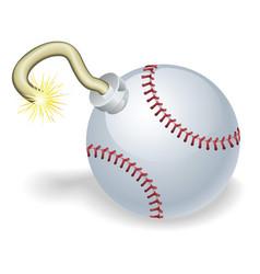 baseball countdown bomb vector image