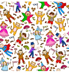 costumes pattern vector image