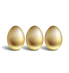 Gold Egg Concept Unique golden eggs vector image vector image