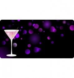 night club martini vector image