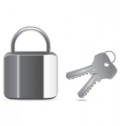 padlock and key vector image vector image