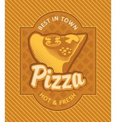 Pizza retro vector image