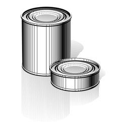 Tincan set vector image vector image