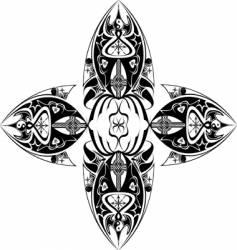 tribal cross vector image