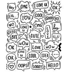 0095 hand drawn background set cute speech vector