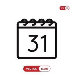 31 december icon vector image