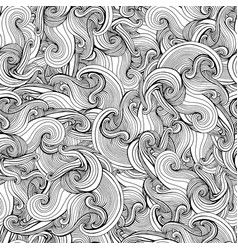 abstract crazy curly psychedelic waves seamless vector image