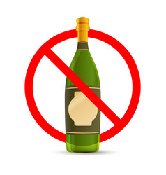 alcohol are not allowed red forbidden sign on vector image