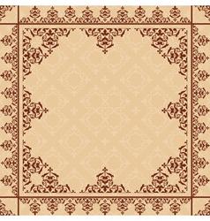 Arabic ornament on light beige pattern vector
