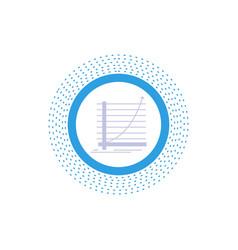 arrow chart curve experience goal glyph icon vector image