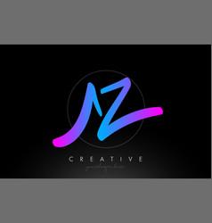 Az artistic brush letter logo handwritten vector