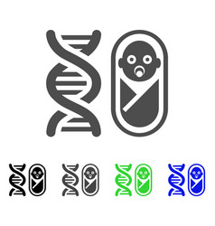 Baby genetics flat icon vector