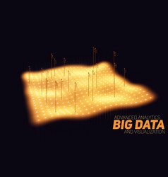 Big data orange plot visualization vector