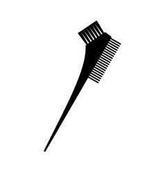 Black and white two side hair dye brush silhouette vector