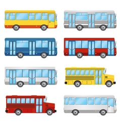 bus set vector image