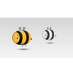 Cartoon Bee in vector image