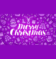 Christmas xmas greeting card or banner holiday vector