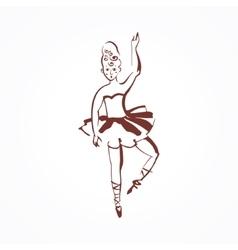 circus ballerina vector image