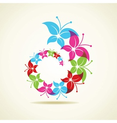 Colorful butterfly icon vector image