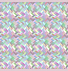 colorful geometric diagonal rectangle mosaic vector image