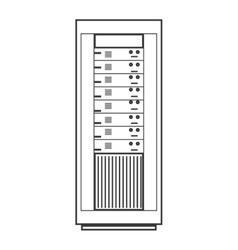 Computer desktop server isolated icon vector