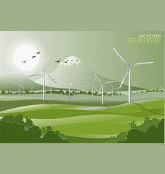 Concept save the earth green energy ecology vector
