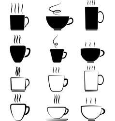 Cup set vector image