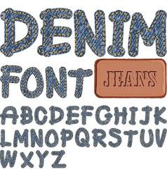 Denim font vector