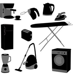 domestic appliances set vector image