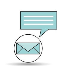 email message chat concept design vector image