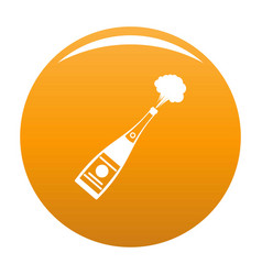 Explosion champagne icon orange vector