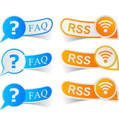 FAQ RSS tags vector image