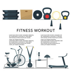 fitness workout in club or center background vector image