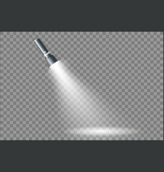 flashlight isolated on transparent background vector image